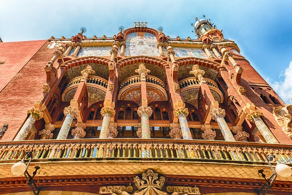 Exterior of Palau de la Musica Catalana, Barcelona, Catalonia, Spain